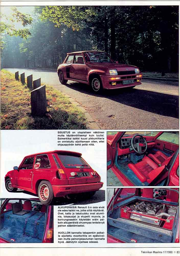 Renault 5 Gt Turbo 2. RENAULT 5 Turbo 2 (Kit Maxi